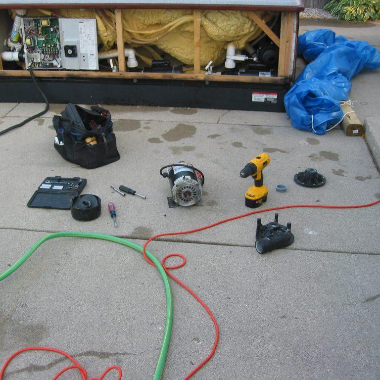 hot tub repair burlington, burlington spa repair, hot tub service burlington